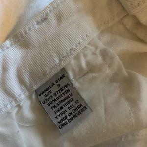Vanilla Star Shorts - EUC white denim cut off shorts distressed
